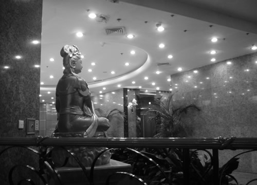Statue of Buddha in Chinese hotel